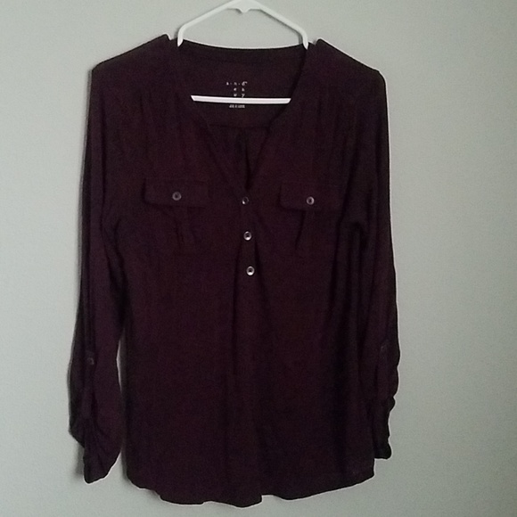 And Tops - Long sleeve , low cut top, with buttons